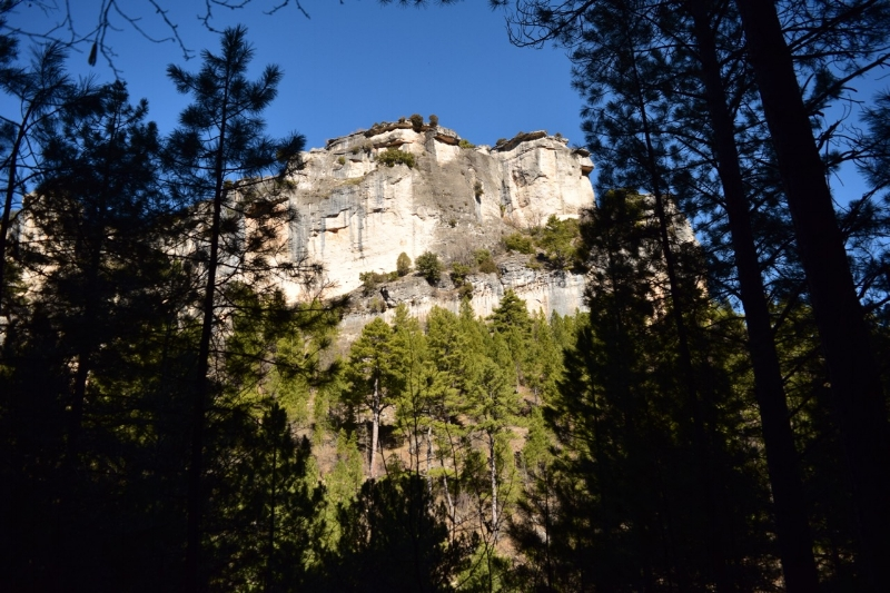 Walking along the canyon walls at Hoz de Beteta is an experience in nature.