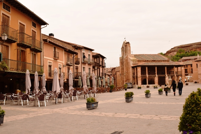 The medieval plaza mayor of Ayllón.