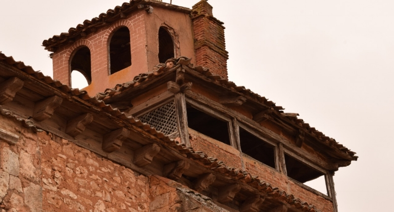 Everywhere you look in Ayllón, you will find fascinating history—including this balcony perched on top of the monastery roof.