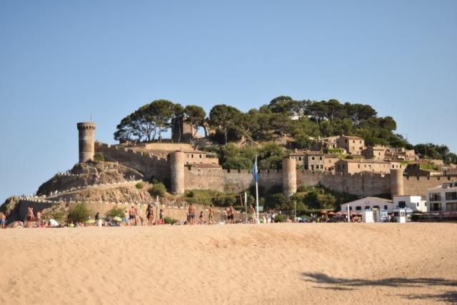 The main beach at Tossa de Mar