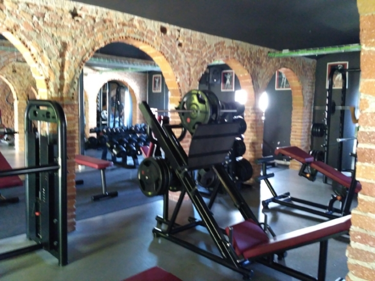 A fully equipped gym is available for guests.
