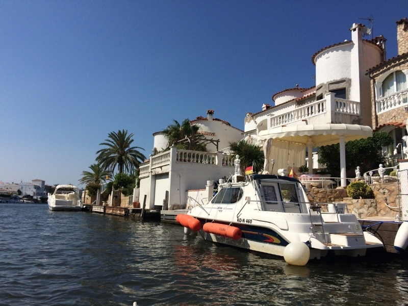 Empuriabrava is built along canals of water.