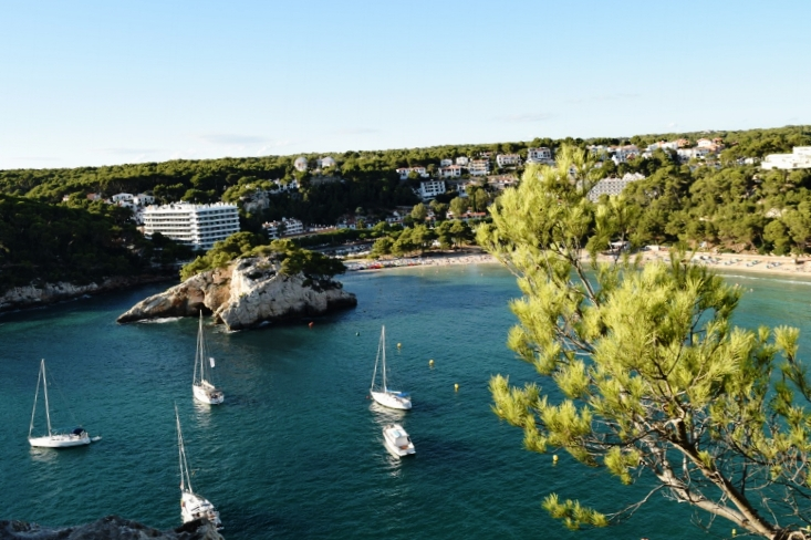 Cala Galdana is the best family beach on the island of Menorca