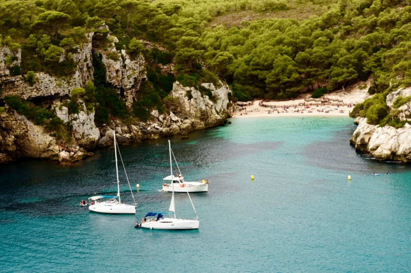Macarelleta is a pristine hidden cove in Menorca and worth the 10 minute walk.