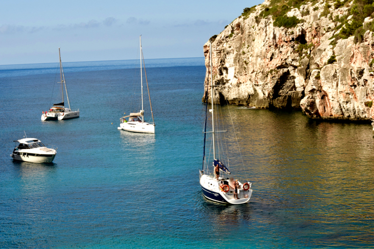 Boats in Menorca
