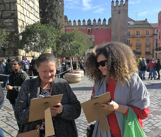Students are learning Spanish as they get to see Seville. Cristina Expósito photo