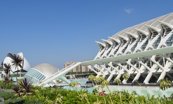 Valencia somehow manages to mix its 1000 year history with some of the most contemporary architectural designs in Spain.