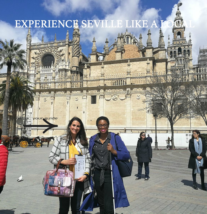 A student seeing the streets of Seville while learning Spanish