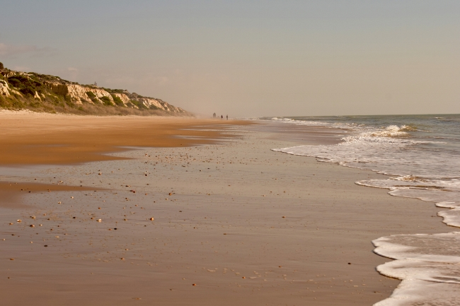 The long sandy beaches of Huelva go on for kilometres.