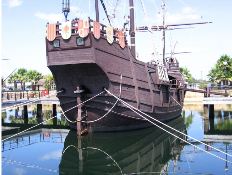 Replicas of La Pinta, La Santa Maria and La Niña are all open to visits.