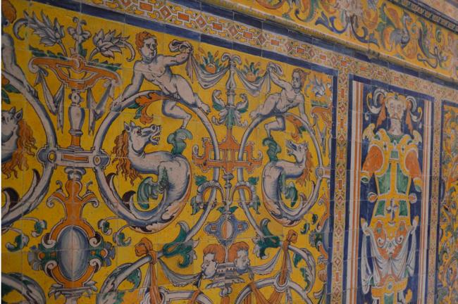 Ceramic in the Alcazar, Sevilla