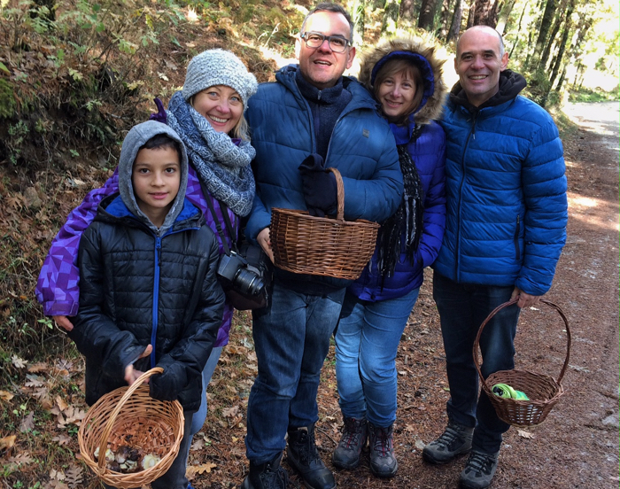 My husband son and I were joined by friends on our mushrooming experience.
