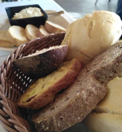 Felipe's offers a selection of breads and rolls to start you off—gluten free is available.