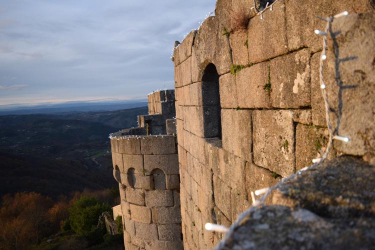 The beautiful views from the O Castro de Caldelas