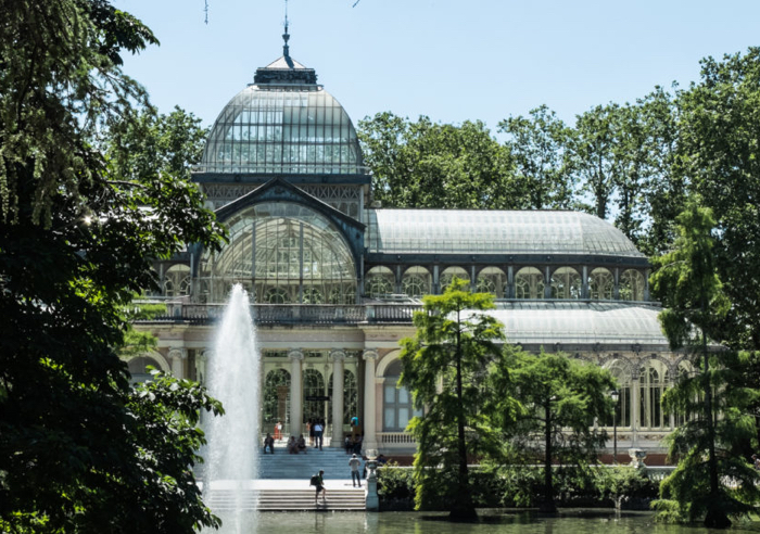 Retiro Park in the centre of Madrid is a lovely place to take a stroll.