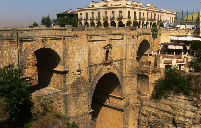 The bridge at Ronda spans the Tajo gorge.