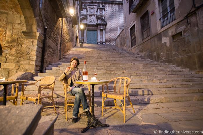 Girona outdoor restaurant Le Bistrot.