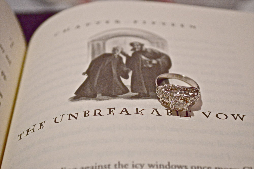 """Of course I had to take this photo right away! I am a HUGE Harry Potter fan! """"The Unbreakable Vow"""""""