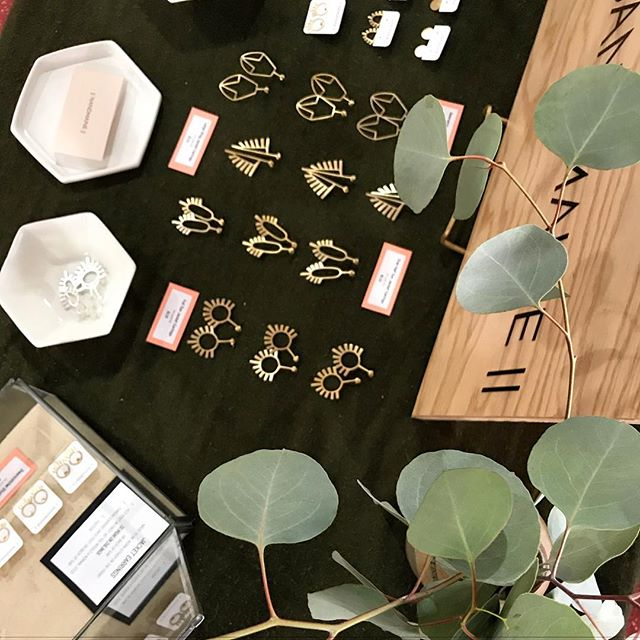 Thank you to everyone who braved the cold and said hello this weekend! Whether you bought a pair of earrings, took a card, or just took a look - I️ appreciate you 🙏🏻❤️ . . . #madeindc #craftybastards #bythings #acreativedc #handmade #jewelry #smallbusiness #shopsmall