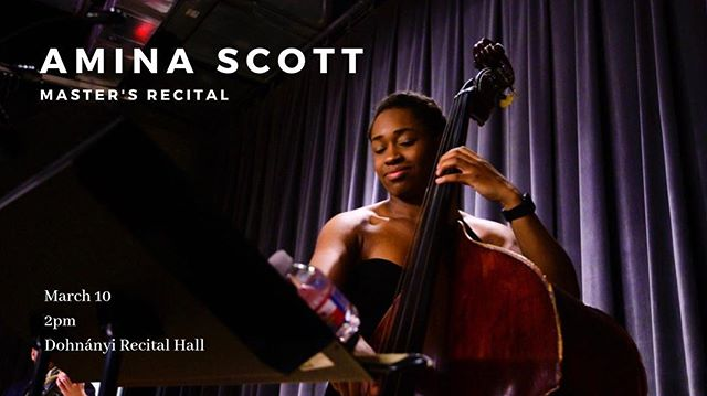 2 years went by sooooo quickly but I'm excited to announce that my master's recital will be on March 10th! Slide thru to hear my band play music/arrangements  by Ellis Marsalis, Joe Henderson, Roy Hargrove, and myself. . . . . . . . . 📸: @katiesikphoto