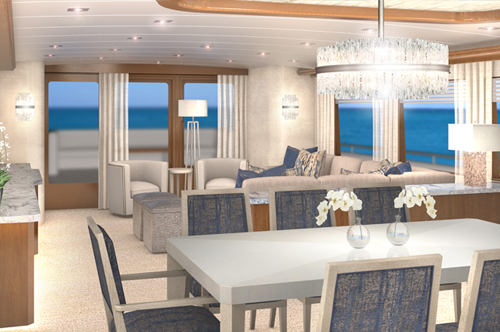 Interior Design 120u0027 Broward Motoryacht Winning Hand Dining
