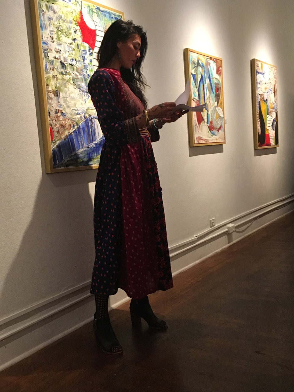 GRIT, Or What You Will excerpt reading, Joyce Gordon Gallery, 3rd Annual Phenomenal Woman, 2017