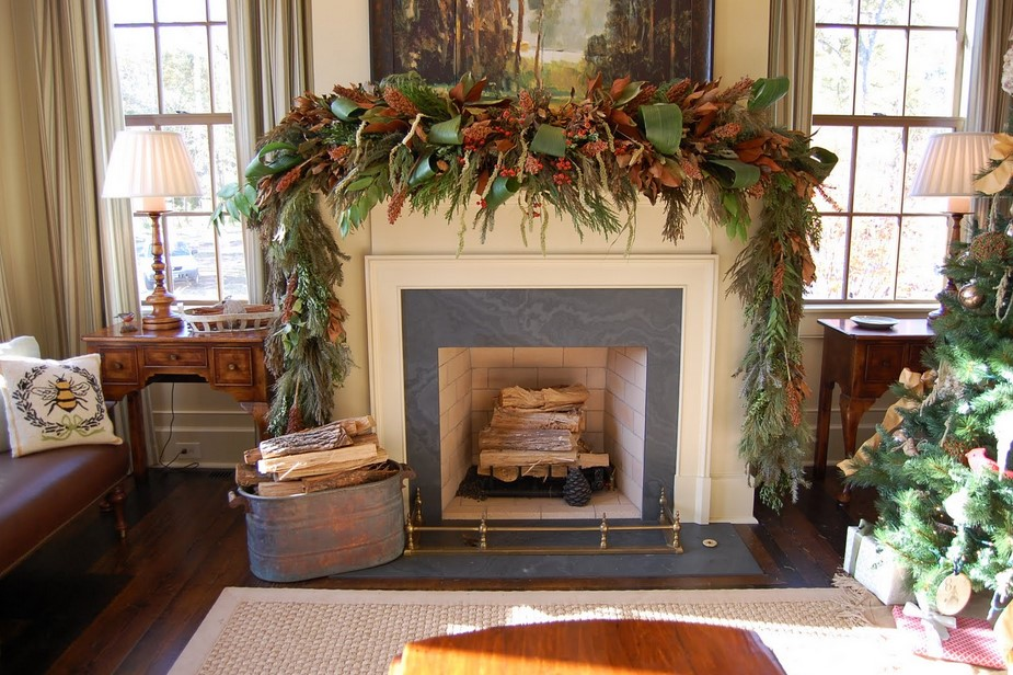 marvellous-mantel-christmas-decorating-ideas-pictures-brown-curtain-brown-windows-frames-firewood-storage-tree-christmas.jpg