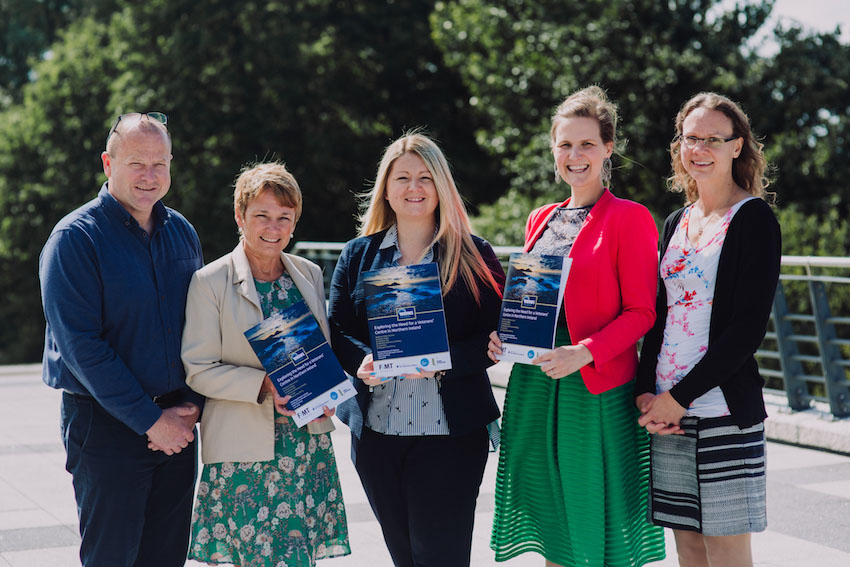 NI Veterans' Health and Wellbeing Study research team launching one of their reports, June 2017