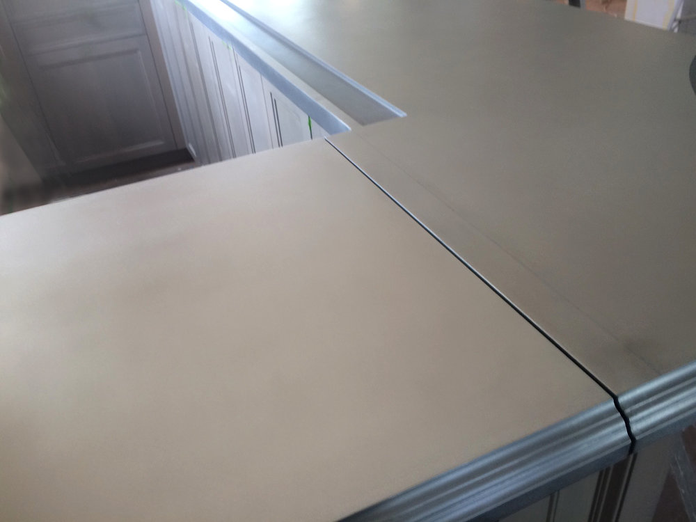 Pewter Bar Top Edge
