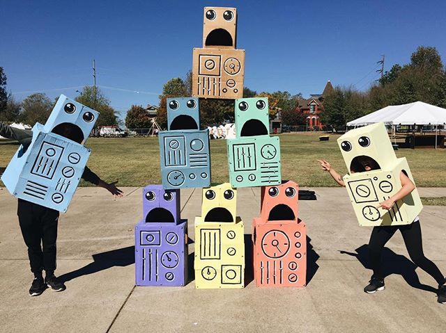 The robots by @robotsneversleep could be your Halloween costume... These guys are up for grabs in East Park! Come by and grab one!