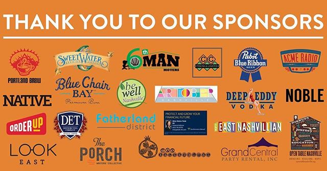 We want to take a moment to thank each and every one of our sponsors for Athens of the South. We couldn't have accomplished the incredible day without their support. Links to their websites can be found at www.aotsfest.com - please take a moment to visit and thank them!