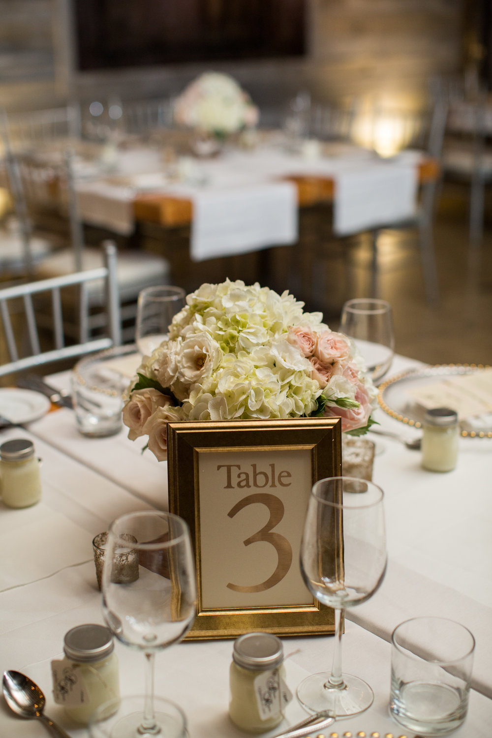 Gold Table Numbers by Junebug Events