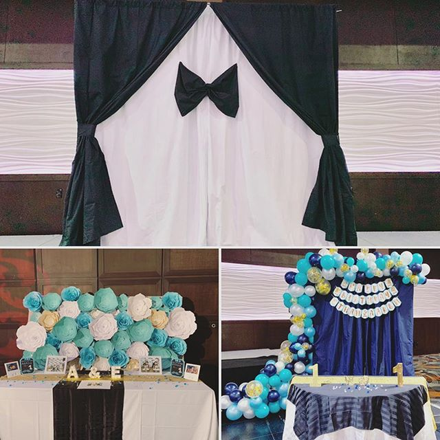 One event, three backdrops 💕 • • • Thanks @partydreamsbc for creating the beautiful balloon garland 💕