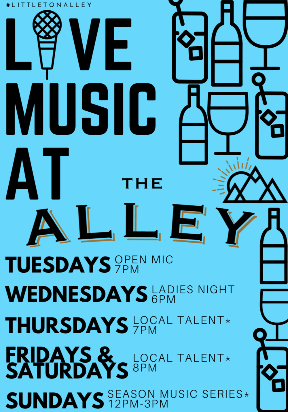 Thursday night live music at the alley