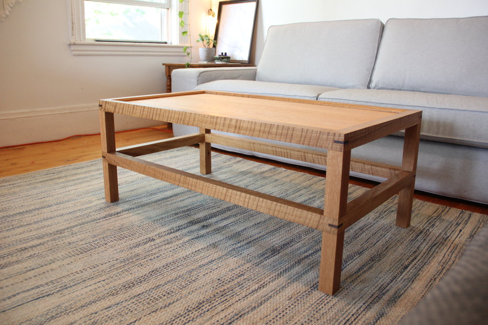 Custom White Oak Coffee Table