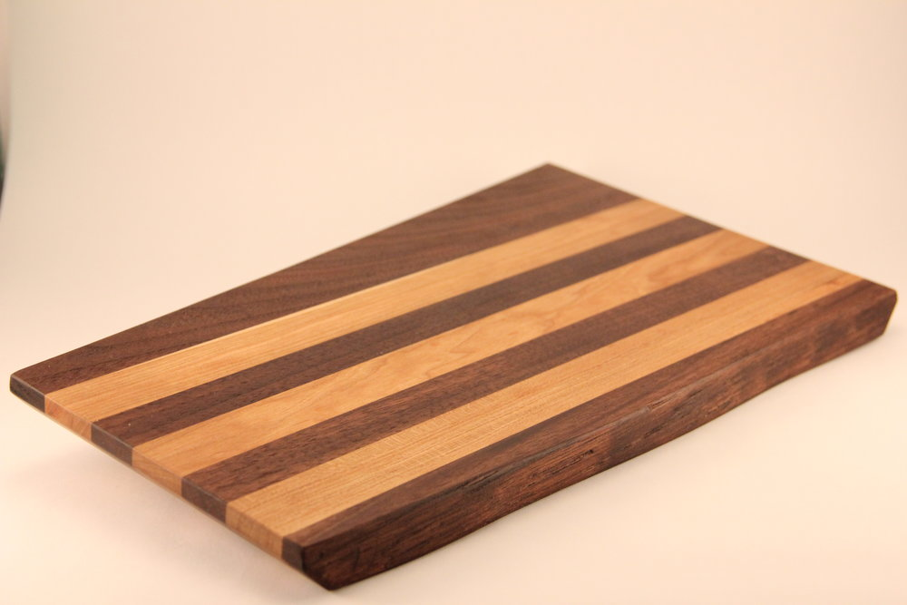 Walnut and Cherry Long Grain Cutting Board