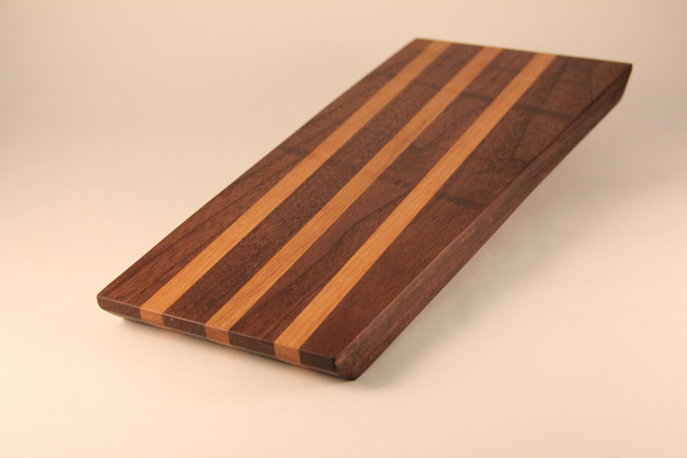 Walnut and Cherry Long Grain Bar Board