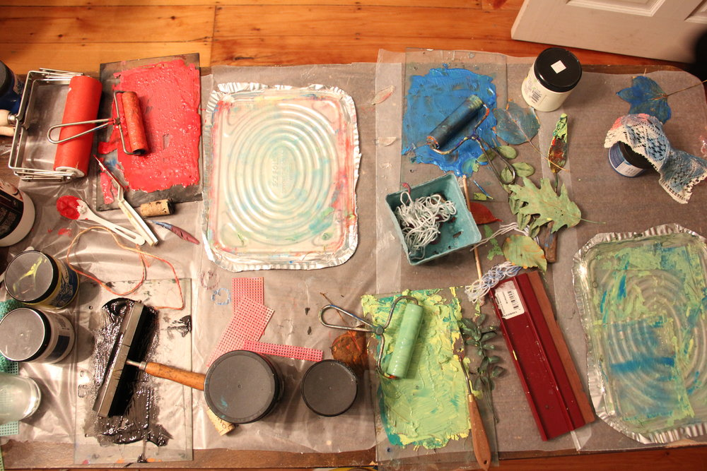 Printmaking for Sanity workshop