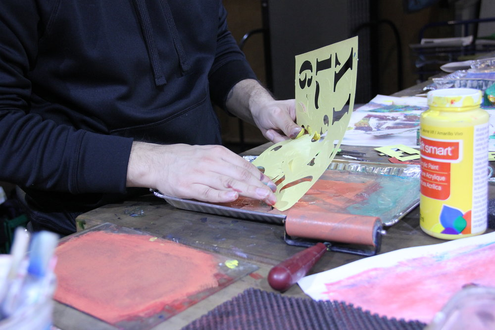 Printmaking for Sanity workshop 2