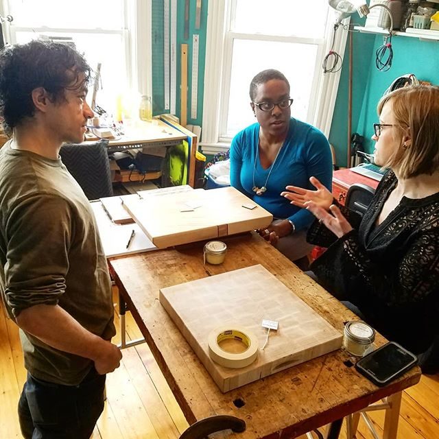 Drumming up a collaboration with the thoughtful & creative team at @goodbostonliving! Thanks for the connection @eliotschoolcraft . #02130 #makeitjp #nonissuestudio #collablocal #goodbostonliving #artlifeboston