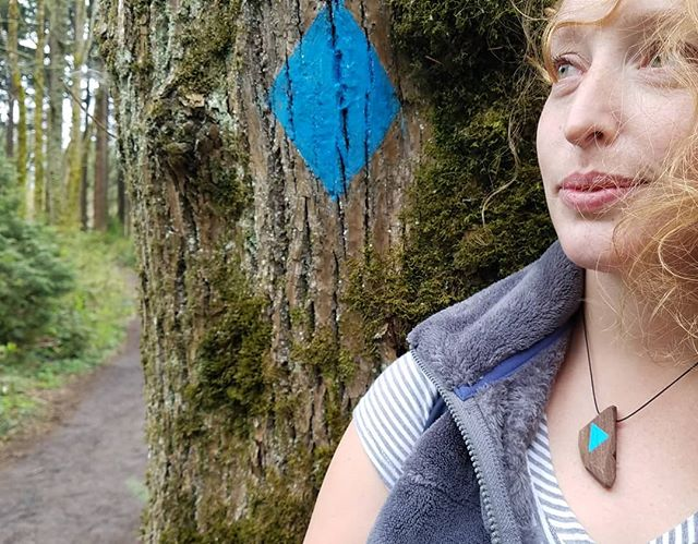 New wooden amulet necklace designed by Dyllan, gifted to Brooke, and modeled by Dani Tunak! Hoping to make more in the future! Message with interest! + + + #nonissuestudio #bostonmakers #amulet #woodenjewelry #woodennecklace #pacificnorthwest #pnw #bicoastal #portlandarboretum #natureinspired