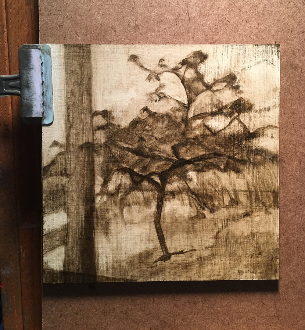 Oil sketch of Four Seasons Tree/Summer