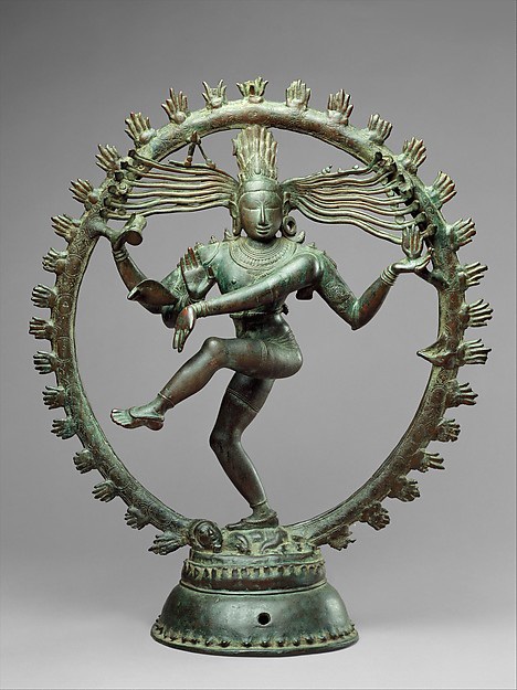 Shiva sculpture via the Metropolitan Museum of Art