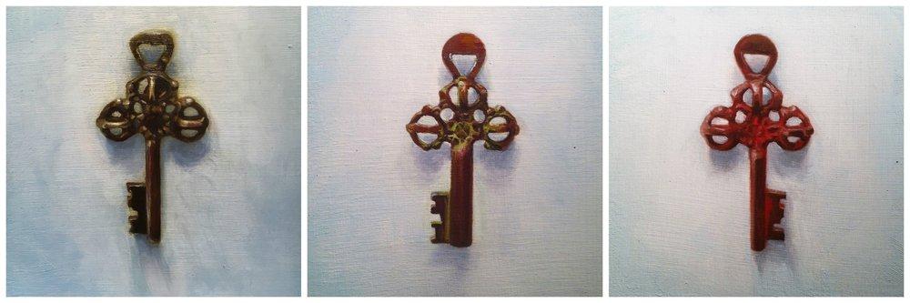 The Three Keys; Melchoir, Balthazar, and Gasper.