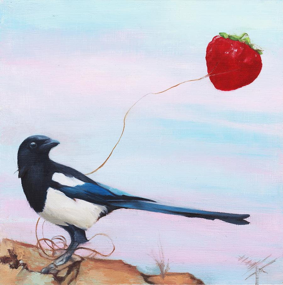 Magpie With Strawberry Kite.jpg
