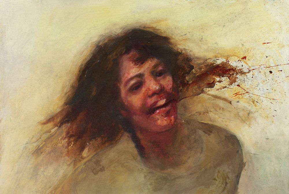 Screengrab, 17 x 24in. Oil on board