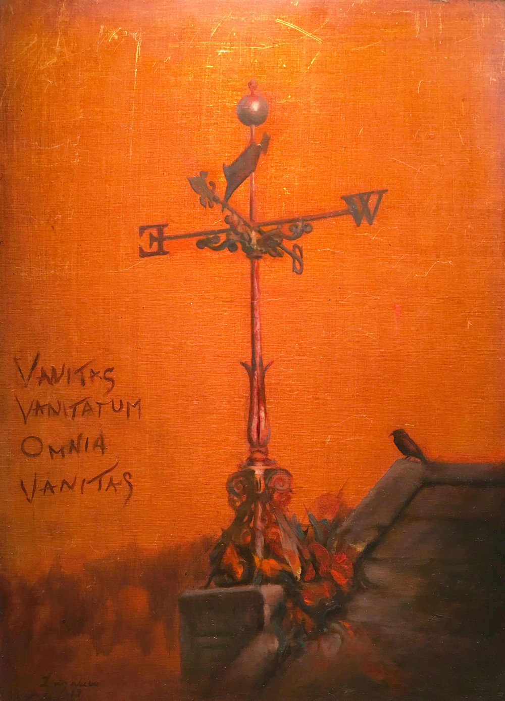 Vanitas (study) 9 x 12.5 in. Oil on aluminum.