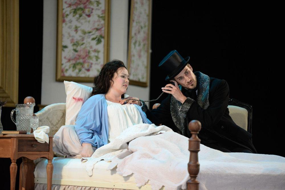 As Dottore Grenvil in La traviata, with Chautauqua Opera