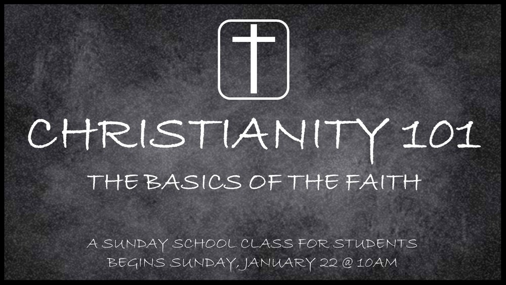 Sunday School begins at 10am