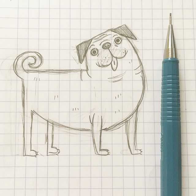 Sometimes you just gotta take a night to sketch some goofy dogs and listen to Star Wars ⭐️ . #pugsofinstagram #pug #dogsofinstagram #dog #sketch #sketchbook #illustration #illustrator #pencil #design #graphicdesign #freelance #pugs #art #create #creative #artistsoninstagram #artist